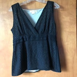 Michael Kors Black Lace Tank